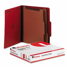 Universal Pressboard Classification Folders, 10/Box