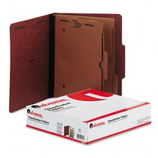 Pressboard Folder with 2 Dividers, 10/Box