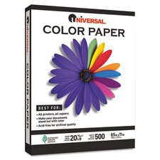 <strong>Universal®</strong> Colored Paper, 500 Sheets/Ream