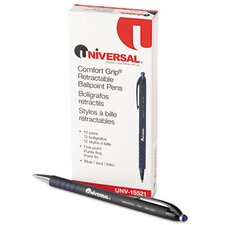 Comfort Grip Ballpoint Retractable Pen, 12/Pack