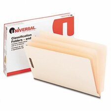 <strong>Universal®</strong> Manila End Tab Folders with Full Cut, 10/Box
