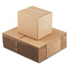 "Corrugated Kraft Fixed-Depth Shipping Carton, 25/Bundle (21"" H x 20"" W x 8"" D)"