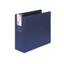 D-Ring Binder w/Label Holder, 4in Capacity