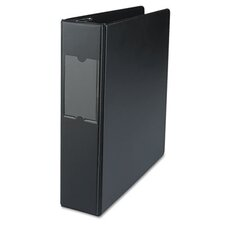 D-Ring Binder with Label Holder, 2in Capacity