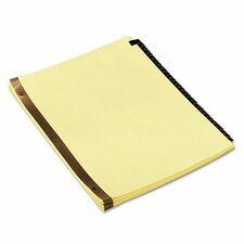 Leather-Look Mylar Tab Dividers (Set of 31)