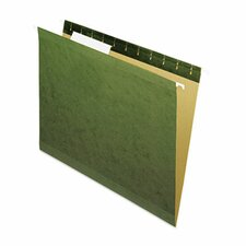 Reinforced Recycled Hanging Folder, 25/Box