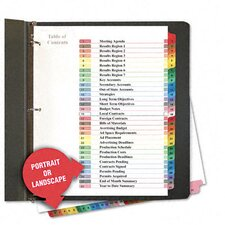 Table Of Contents Dividers, 31/Set