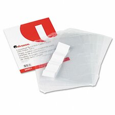 Business Card 3-Ring Binder Pages, 20 2 x 3-1/2 Cards per Page, 5 Pages per Pack