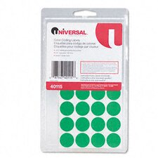 <strong>Universal®</strong> Permanent Self-Adhesive Color-Coding Labels, 1008/Pack