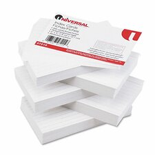 Ruled Index Cards, 3 x 5, White, 500 per Pack