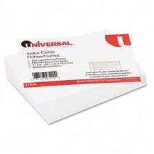 <strong>Universal®</strong> Unruled Index Cards, 4 x 6, White, 100 per Pack
