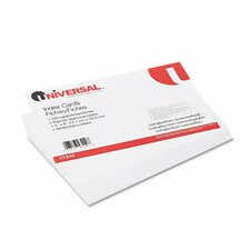 Unruled Index Cards, 5 x 8, White, 100 per Pack