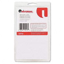 Removable Self-Adhesive Multi-Use Labels, 120/Pack