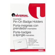 Clear Badge Holders W/Inserts, 100/Box