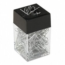 Paper Clips with Magnetic Dispenser, 12/100 Carton Boxes