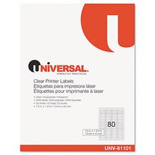 <strong>Universal®</strong> Laser Printer Permanent Labels, 2000/Box