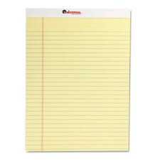 Perforated Edge Writing Pad, Legal/Margin Rule, 50 Sheets, 12-Pack