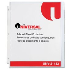 <strong>Universal®</strong> Heavy Weight Sheet Protector with Index Tabs, 8/Pack