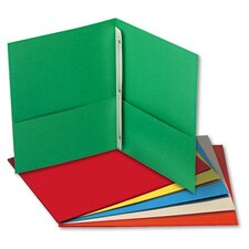 Two-Pocket Portfolios with Tang Fasteners, 11 X 8-1/2, 25/Box
