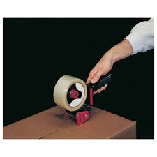 Handheld Box Sealing Tape Dispenser in Black and Red