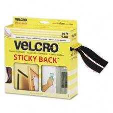 "<strong>VELCRO USA Inc</strong> Sticky-Back Hook and Loop Fasteners In Dispenser, 3/4"" X 30 Ft. Roll"