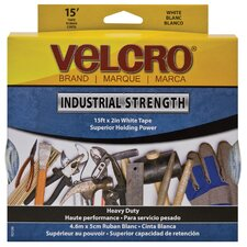 "Industrial Strength Sticky-Back Hook and Loop Fasteners, 2"" X 15 Ft. Roll"