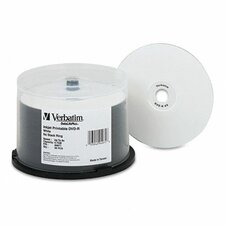 <strong>Verbatim Corporation</strong> Inkjet Printable Spindle Dvd-R Discs, 4.7Gb, 8X, 50/Pack