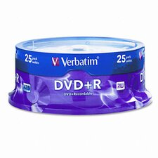 Spindle Dvd+R Discs, 4.7Gb, 16X, 25/Pack