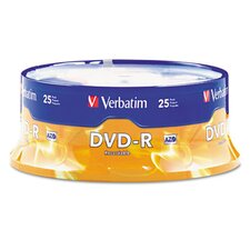 <strong>Verbatim Corporation</strong> Spindle Dvd-R Discs, 4.7Gb, 16X, Spindle, 25/Pack