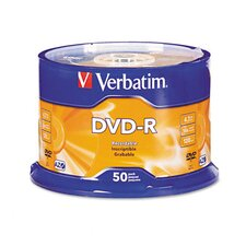 Spindle Dvd-R Discs, 4.7Gb, 16X, 50/Pack