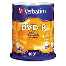 Spindle Dvd-R Discs, 4.7Gb, 16X, Spindle, 100/Pack