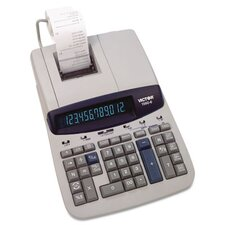 Ribbon Printing Calculator, 12-Digit Fluorescent