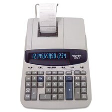 Ribbon Printing Calculator, 14-Digit Fluorescent