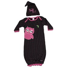 <strong>Sozo</strong> Night Owl Gown and Cap Set in Black