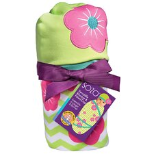 <strong>Sozo</strong> Chevron Floral Swaddle Blanket and Cap Set