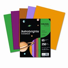 Astrobrights Colored Card Stock, 65 Lbs., 8-1/2 X 11, 250 Sheets