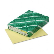 <strong>Wausau Papers</strong> Index Card Stock, 90lb, Pastel Canary, Letter, 250 Sheets per Pack
