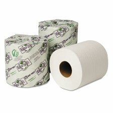 Ecosoft Seal 1-Ply Toilet Paper - 1000 Sheets per Roll / 48 Rolls