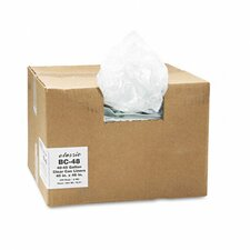 <strong>Webster Industries</strong> Classic Clear Clear Low-Density Can Liners, 40-45 Gal, .6 Mil, 40 X 46, 250/Carton