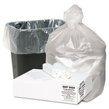Good 'N Tuff High Density Waste Can Liners, 7-10 Gal, 5 Mic, 24 X 23, 1000/Carton