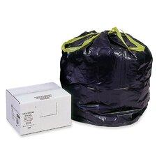Heavy-Duty Draw/Tie Bags, Hexene Resin, 30 gal, 1.2mil, 30 1/2 x 34, BLK, 200/bx