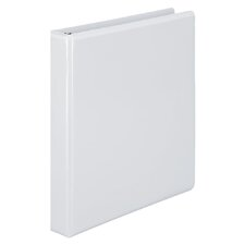 "Basic D-Ring Vinyl View Binder, 1"" Capacity"