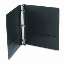 Vinyl Round Ring Locking View Binder, 1in Capacity