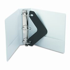 Vinyl Round Ring Locking View Binder, 3in Capacity