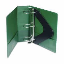 "Heavy-Duty No-Gap D-Ring Binder with Label Holder, 3"" Capacity"