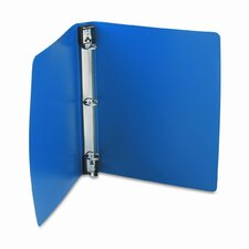 "Hanging Dubllock Round Ring Poly Binder,11 X 8-1/2, 1"" Capacity"