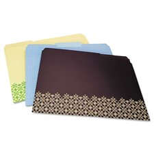 Decorative Folders, Letter, 6/Pack