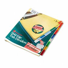 Gold Pro Insertable Tab Index, 8-Tab, Letter, Buff Sheets
