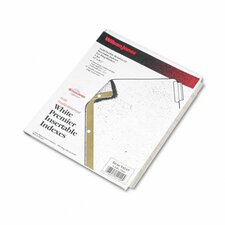 Gold Pro Insertable Tab Index, 8-Tab, Letter