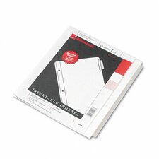 Oversized Reinforced Insertable Index, 5-Tab, 9-1/4 X 11
